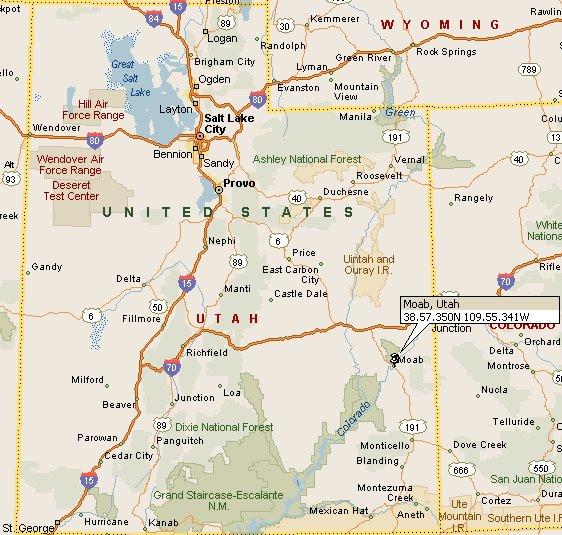 Moab, Utah Map 4