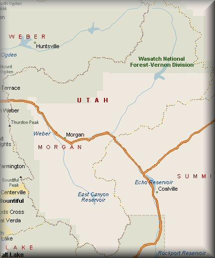 Morgan County Utah Map