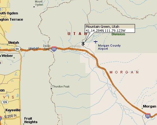 Mountain Green Utah Map 1