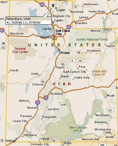 Petersboro Utah Map 4
