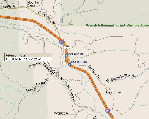 Peterson Utah Map 1