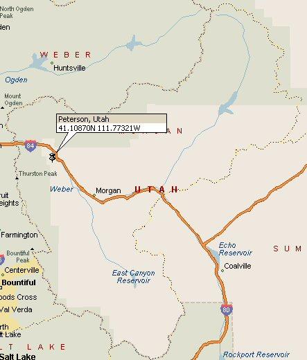 Peterson Utah Map 2