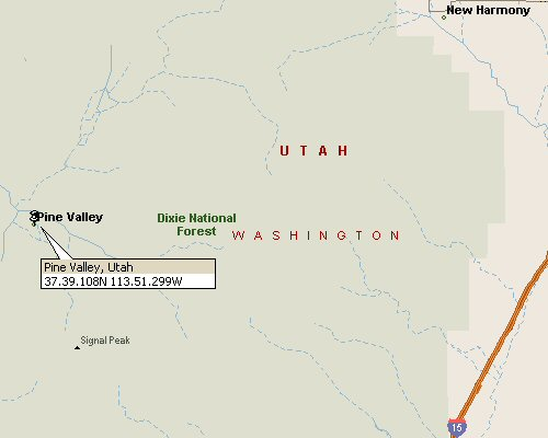 Pine Valley, Utah Map 1