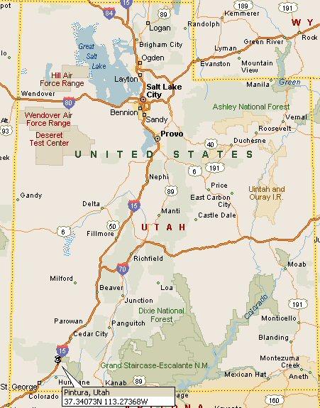 Pintura Utah Map 4