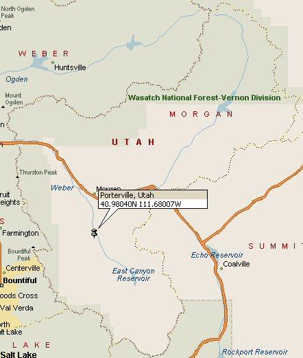 Porterville, Utah Map 2