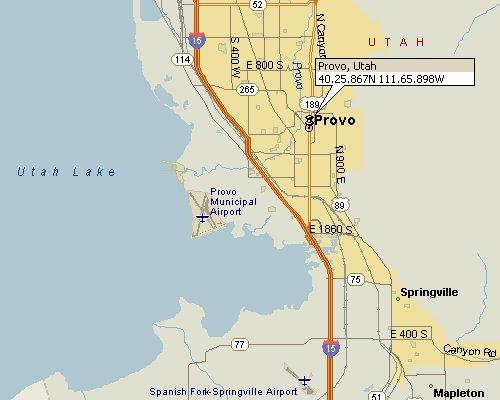 Provo Utah Map 1