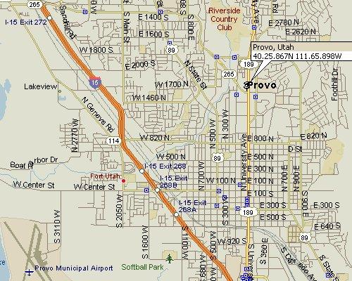 Provo, Utah Map 3