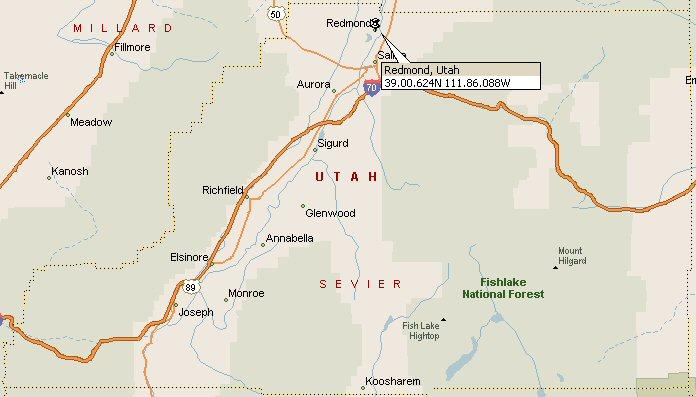Redmond Utah Map 2