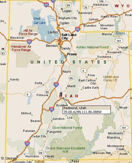 Redmond, Utah Map 4
