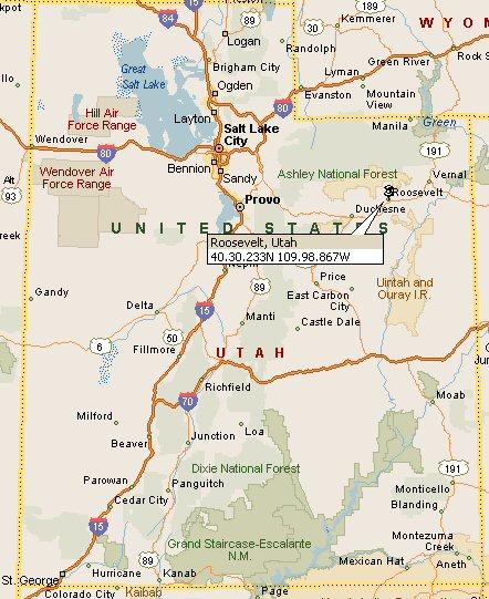 Roosevelt Utah Map 4