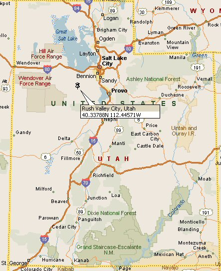 Colorado City Utah Map.Rush Valley City Utah Map 4