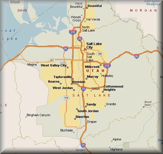 Salt Lake County Utah Map