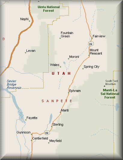 Sanpete County Utah Map.Sanpete County Utah Map