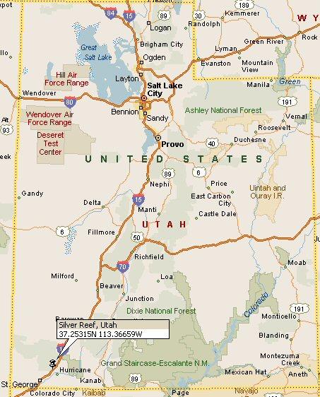 Silver Reef Utah Map