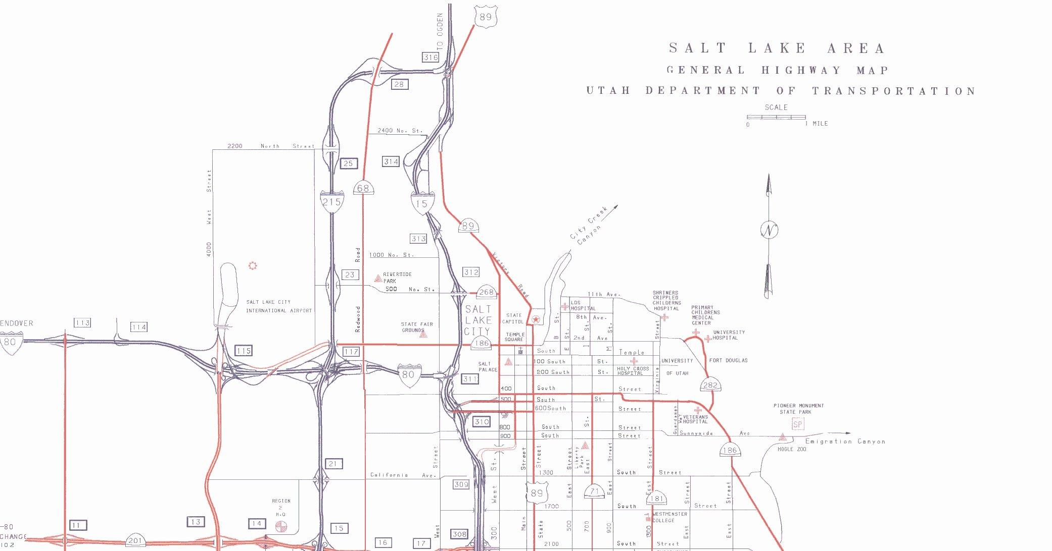 Va Hospital Utah Map.Salt Lake City Utah Map