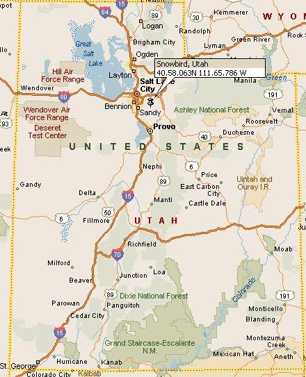 Snowbird Utah Map 4