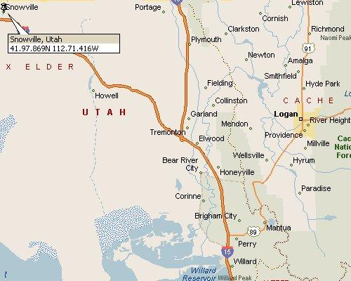 Snowville Utah Map 1