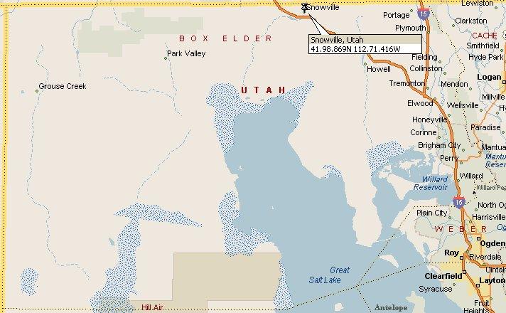 Snowville, Utah Map 2