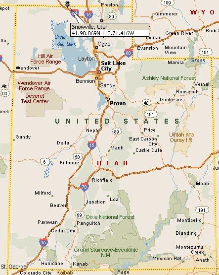 Snowville, Utah Map 4