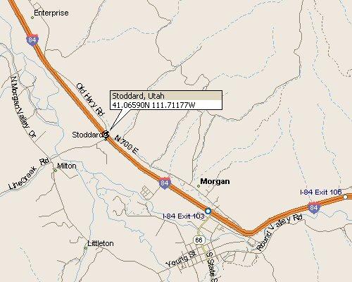 Stoddard Utah Map 1