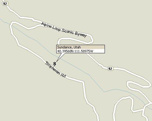 Sundance Utah Map