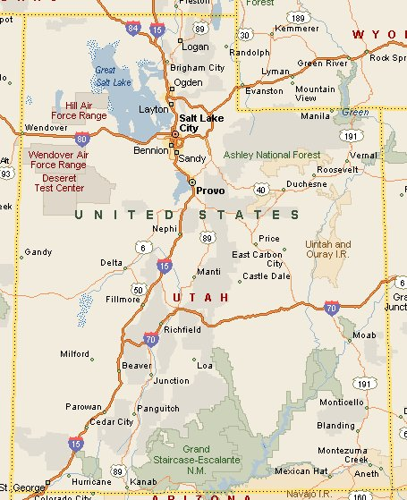 Maps Of Utah Cities And Towns - Utah maps