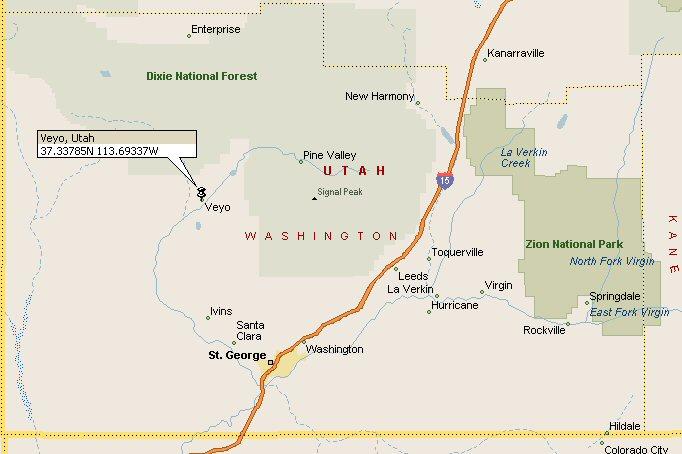 Veyo Utah Map 2