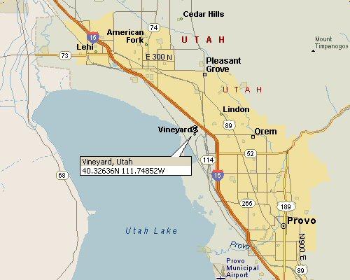 Vineyard, Utah Map 1