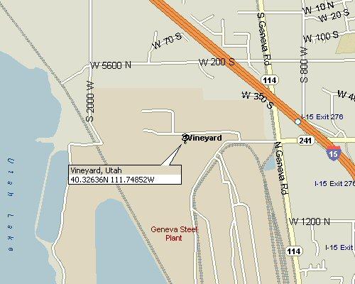 Vineyard, Utah Map 3