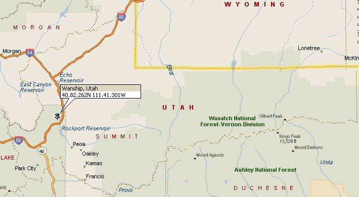 Wanship Utah Map 2