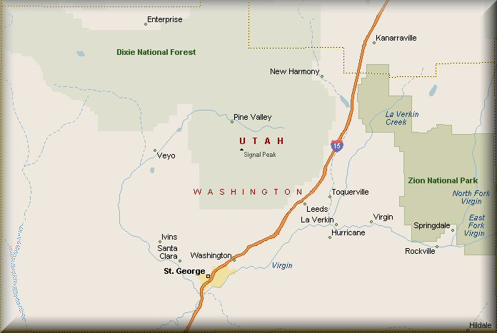 Washington County Utah Map
