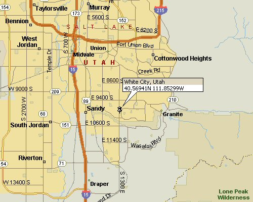 White City Utah Map