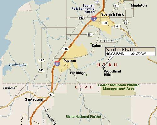 Woodland Hills, Utah Map 1