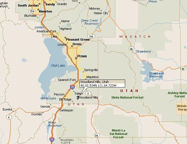 Woodland Hills, Utah Map 2