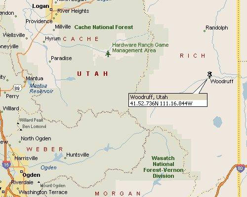Paradise Utah Map.Woodruff Utah Map 1
