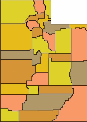 Utah Counties Map